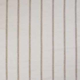 Burn Stripe - Ivory - Thin light grey stripes printed vertically at even intervals over 100% silk fabric in off-white