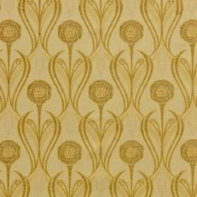 Rheims - Straw - Shades of gold making up a viscose, cotton and polyester blend fabric