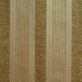 Salisbury - Mortar - Striped fabric in a blend of viscose, cotton and polyester, featuring gold and grey shades