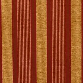 Salisbury - Venetian Red - Copper and claret coloured fabric blended from viscose, cotton and polyester, with a repeated striped design