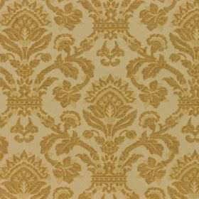 Westminster - Straw - Ornately patterned gold and cream-grey coloured fabric with a mix of viscose, cotton and polyester