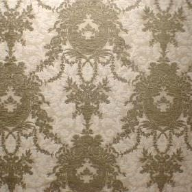 Enchanted - Fern - Two shades of grey making up the busy, ornate, detailed pattern for this fabric blended from viscose, cotton and polyester