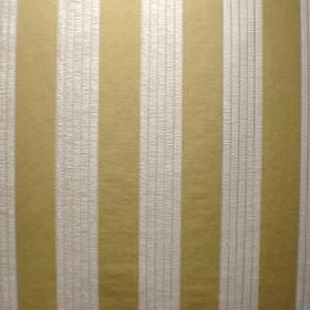 Cavendish - Brompton Gold - Off-white and gold coloured fabric made from a blend of viscose, cotton and polyester