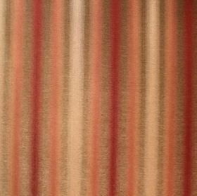 Cambridge Alicia - Raspberry - Dark red, salmon pink, cream and brown striped fabric blended from viscose, cotton and polyester