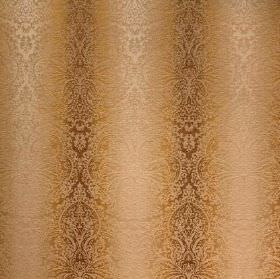 Cambridge Fortuna - Maize - Brown, gold and caramel coloured patterned viscose, cotton and polyester blend fabric