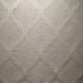 Saltram - Oyster - Subtly patterned fabric made in silver, from a blend of viscose, cotton and polyester