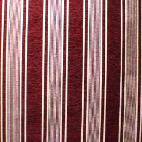 Toulouse - Bordeaux - Deep burgundy and white striped viscose, polyester and cotton blend fabric
