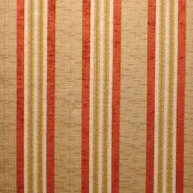 Helena - Burnt Gold - Beige, burnt orange, cream and gold striped polyacrylic, viscose and polyester blend fabric
