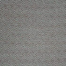 Mallorca Ranma - Ocean - Silver and black cotton, viscose and polyester blend fabric with a small design in a geometric style