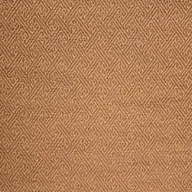 Mallorca Ranma - Mauve - Fabric made with a small geometric print pattern in 2 different shades of orange-brown, from cotton, viscose & poly