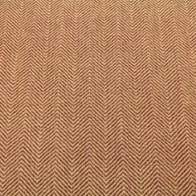 Keats - Earth - Red-brown and pale yellow viscose, polyacrylic and modacrylic blend fabric with a pattern of very narrow zigzags