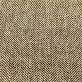 Keats - Granite - Fabric made from viscose, polyacrylic and modacrylic in a dark brown and champagne coloured zigzag pattern