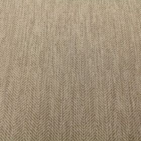 Keats - Sand - A very subtle zigzag pattern in two similar shades of beige on viscose, polyacrylic and modacrylic blend fabric