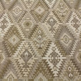 Kipling - Sand - Several different shades of beige making up this viscose, polyacrylic and modacrylic blend fabric's Aztec style pattern
