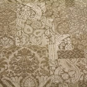Wordsworth - Sand - Randomly patterned viscose, polyacrylic and modacrylic blend fabric in light and dark shades of grey-beige