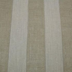 Byron - Sand - Fabric blended from viscose, polyacrylic and modacrylic in beige and light grey, with an even striped design