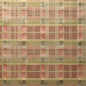 Perugia - Degas - Viscose and polyester blend fabric with a checked design, mostly in shades of gold and salmon pink