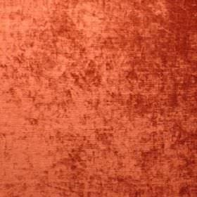 Plain Cleaves - Brick - Slightly textured polyacrylic, polyester and viscose blend fabric in burnt orange