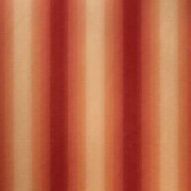 Saragossa Elenora - Raspberry - Stripes of dark red fading through to very pale orange on fabric made from a mixture of cotton and polyester
