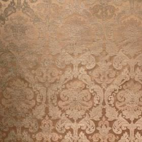 Hamilton - Slate - Fabric made in beige and dark gold, from viscose and polyester, with a pattern which is both repeated and ornate