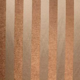 Cuthbert - Duck Egg - Bronze and beige striped viscose and polyester blend fabric