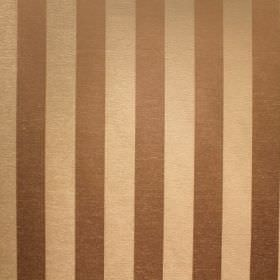 Cuthbert - Platinum - Vertical stripes on fabric blended from viscose and polyester, in light brown and cream-gold