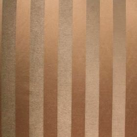 Cuthbert - Slate - Alternating pewter and bronze coloured stripes on fabric made from viscose and polyester