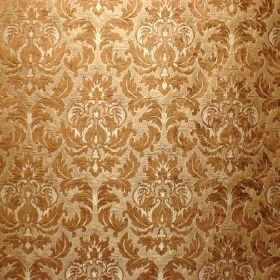 Venice Imogen - Maple - Bronze, gold and cream coloured polyester and polyacrylic blend fabric with a pattern which is very detailed & repea