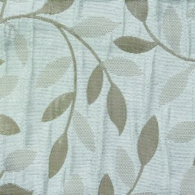 Ashleigh Small Leaf - Cream - Fabric made entirely from polyester with a simple leaf and curved vine design in three different light shades