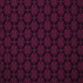 Bronte Anne - Burgundy - Several rich shades of burgundy making up a polyester-acrylic blend fabric with a diagonal grid and wavy line desig
