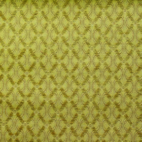 Bronte Anne - Gold - Fabric made from lime green coloured polyester and acrylic with a pattern of wavy lines and a diagonal grid