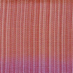 Cavendish - Salmon - Salmon pink and cream lines running vertically creating a striped design on polyester and cotton blend fabric