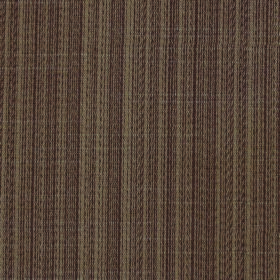Cavendish - Chocolate - Striped polyester and cotton blend fabric in chocolate brown and grey-green colours