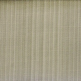 Cavendish - Champagne - Pale grey-green and off-white striped polyester and cotton blend fabric with a very subtle design