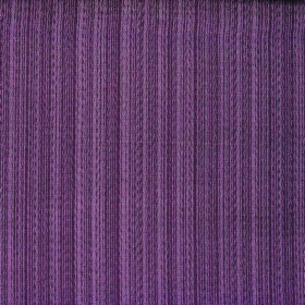 Cavendish - Plum - Fabric containing polyester and cotton made with a vertical striped design in dusky shades of purple and grey