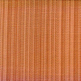 Cavendish - Terracotta - Fabric made from polyester and cotton with a vertical striped design in light shades of pumpkin orange