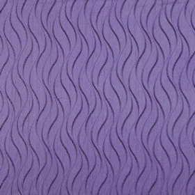 Concept Ripple - Grape - Short grey wavy lines patterning lilac coloured fabric made entirely from polyester