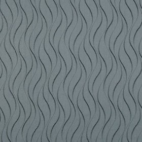 Concept Ripple - Charcoal - Dusky blue coloured fabric made from 100% polyester with a pattern of short, wavy dark grey lines