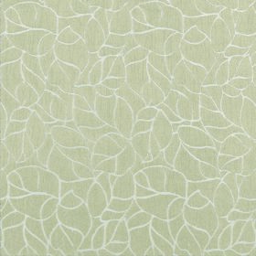 Concept Elements - Champagne - Leaf print 100% polyester in light grey, covered with a very simple pattern of outlines of leaves in white