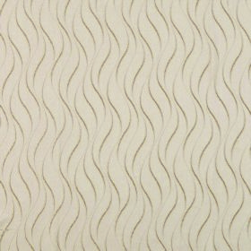 Concept Ripple - Latte - Cream coloured 100% polyester fabric with a light brown pattern of repeatedly printed short wavy lines