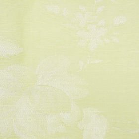 Darcey Leaf - Cream - Very subtly patterned cotton and polyester blend fabric in off-white and a pale creamy yellow colour