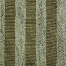 Darcey Stripe - Earth - Vertically striped light grey and darker green-grey coloured fabric made with a mixture of cotton and polyester
