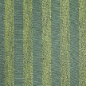 Darcey Stripe - Slate - Evenly spaced stripes in light green and blue-grey on cotton and polyester blend fabric