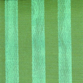 Darcey Stripe - Teal - Cotton and polyester blend fabric featuring a vertical striped design in icy blue and leaf green
