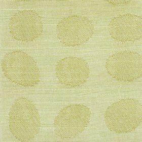 Darcey Pebble - Sand - Circles and egg shapes patterning cotton and poylester blend fabric in two similar paleshades of light yellow
