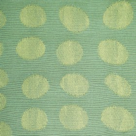 Darcey Pebble - Slate - Fabric made from cotton and polyester, with thin light green and dusky blue stripes, patterned with light green dots
