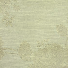 Darcey Leaf - Sand - Putty coloured fabric containing cotton and polyester with an almost imperceptible floral pattern