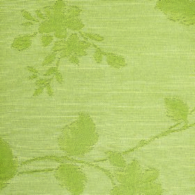 Darcey Leaf - Pear - Floral patterned fabric made from cotton and polyester in two light shades of apple green with a very subtle pattern