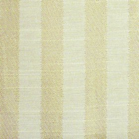 Darcey Stripe - Sand - Wheat and white coloured cotton and polyester blend fabric with a regular pattern of vertical stripes
