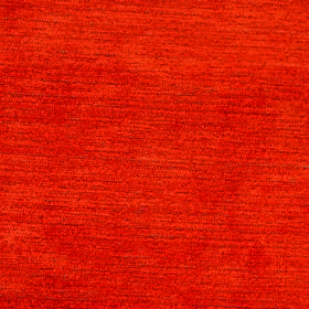 Forte - Orange - Polyester and viscose blend fabric made in a bright but dark shade of orange, flecked horizontally with darker threads